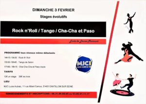 Stages Rock n' Roll / Tango / Cha-Cha et Paso